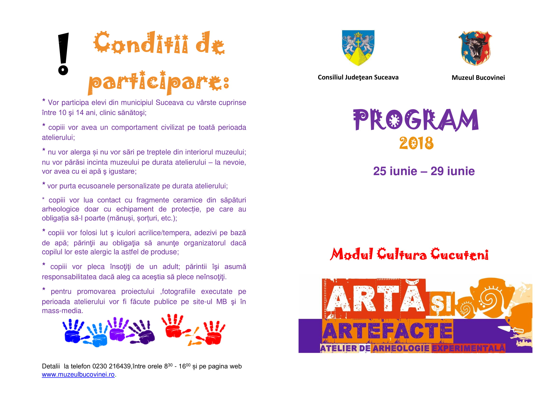program ateliere de arh exp Cucuteni 2018-3