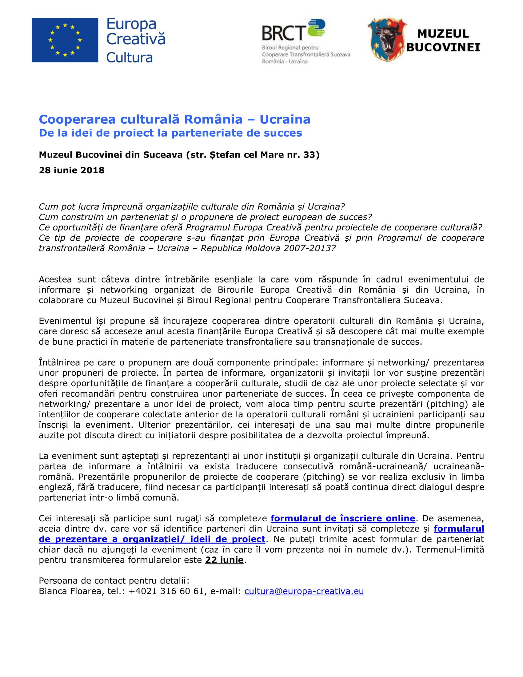 Descriere si agenda Suceava 28 iunie 2018-1