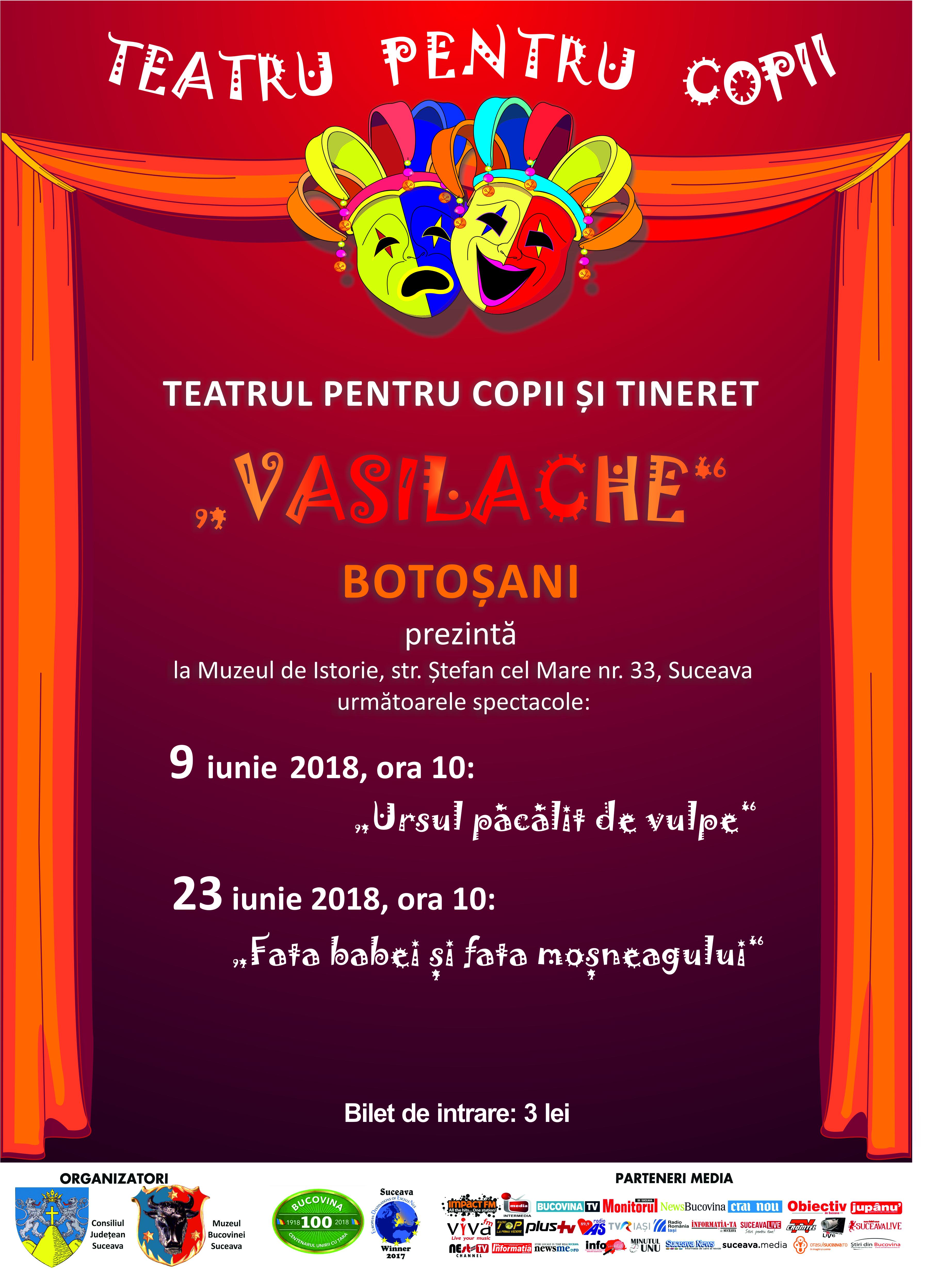 afis teatru de copii iunie 2018