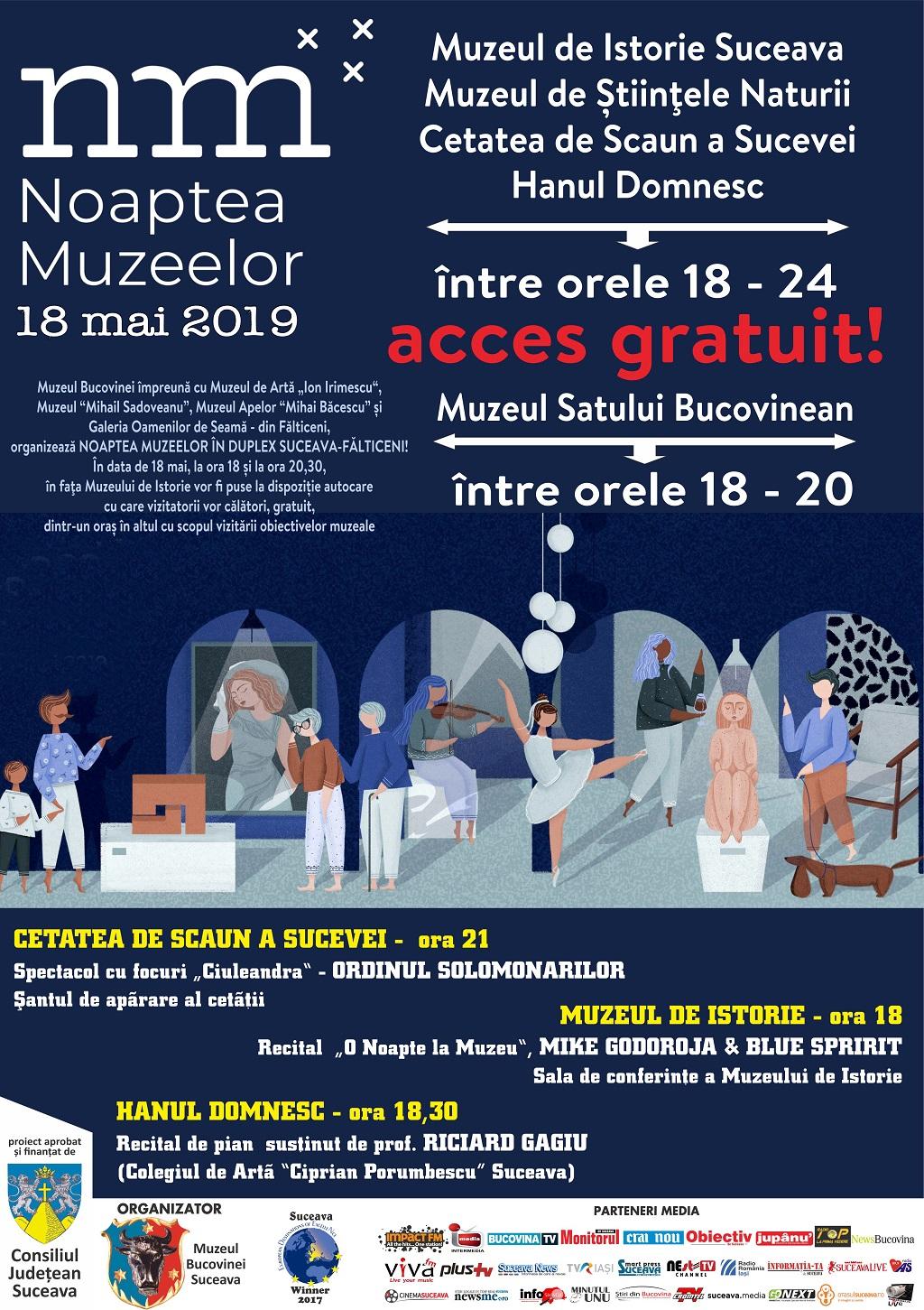 noaptea muzeelor 2019 cu program