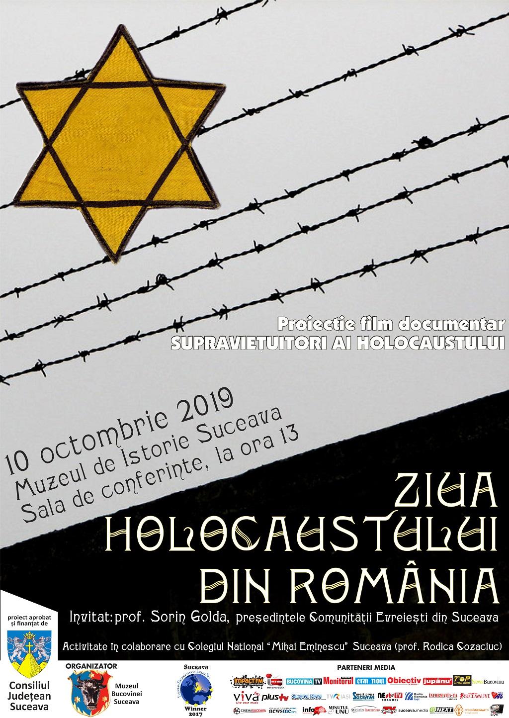 afis Ziua Holocaustului 2019