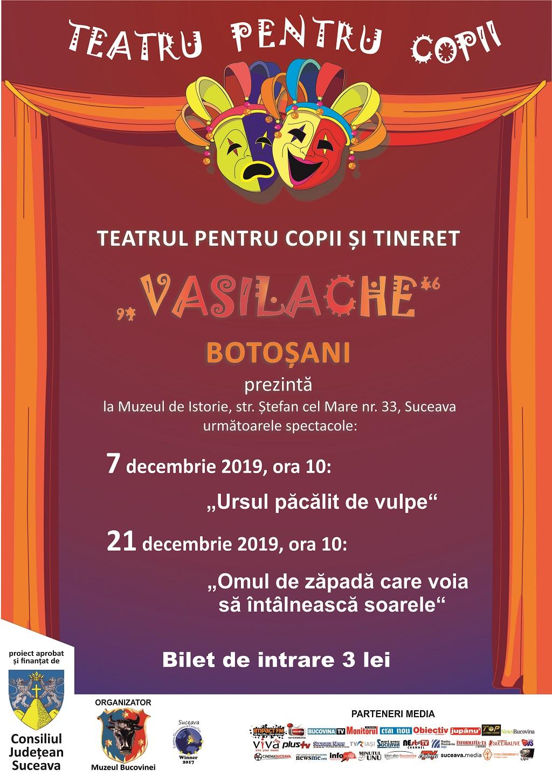 afis teatru copii decembrie 2019
