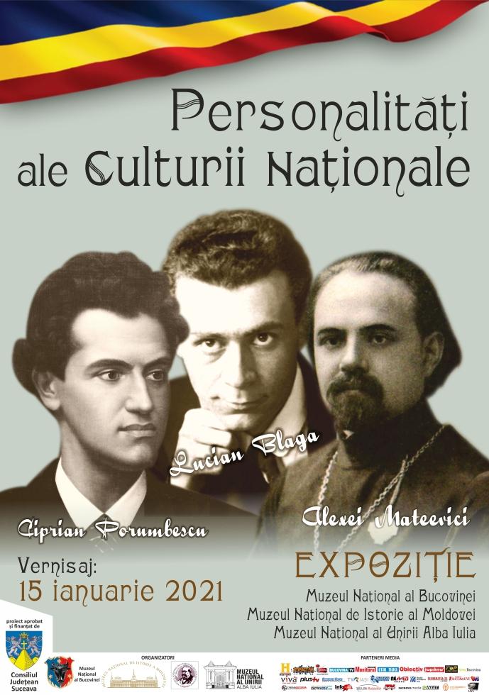 afis Personalități ale Culturii Nationale 2021