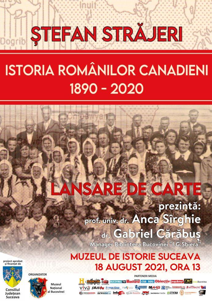 afis lansare carte Canada